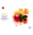 Bright Christmas card with realistic decoration vector image vector image
