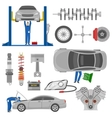 Car Service Decorative Elements Set vector image vector image