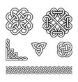 celtic pattern set - braids and knots vector image vector image