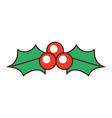 christmas holly berry leaf decoration ornate vector image vector image