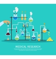 Colored Chemistry Lab Flat Poster vector image vector image