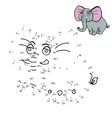 connect dots to draw animal educational game vector image vector image