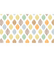 cute autumn leaf pattern abstract banner vector image