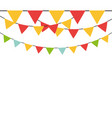 decorative pennants frame vector image