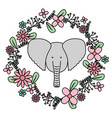 elephant with floral decoration bohemian style vector image vector image