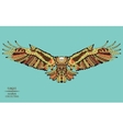 entangle stylized eagle sketch for tattoo or t vector image vector image