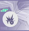 explosion icon on purple abstract modern vector image