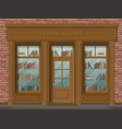 facade of bookstore front view vector image vector image