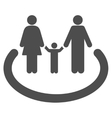Family Area Flat Icon vector image vector image