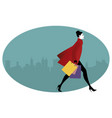 fashionable woman with shopping bags walking vector image