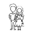 figure cute brazilian couple with hairstyle and vector image vector image