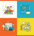 finance success at work education and innovation vector image vector image