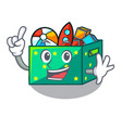 finger children toy boxes isolated on mascot vector image
