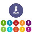 flask of love elixir set icons vector image vector image
