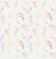 hand drawn kokopelli seamless pattern vector image vector image