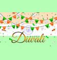 happy diwali indian flags garland india flag vector image