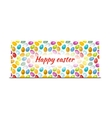 Happy Easter bright banner with colourful eggs vector image vector image