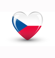 heart-shaped icon with flag czech republic vector image