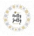 Holly Jolly Christmas card Minimalist style vector image