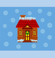 house with a facade decorated for christmas with vector image vector image
