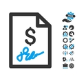 Invoice Page Flat Icon With Tools Bonus vector image vector image