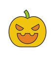 jack o lantern halloween related filled outline vector image vector image
