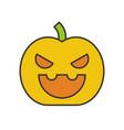 jack o lantern halloween related filled outline vector image