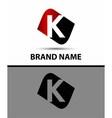 Letter K elegant alphabet symbol vector image vector image