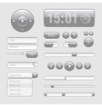 Light Web UI Elements Design Gray Elements Buttons vector image vector image
