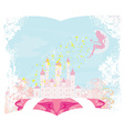 Magic Fairy Tale Princess Castle vector image vector image