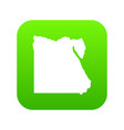map of egypt icon digital green vector image