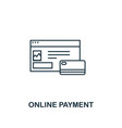 online payment icon thin line style symbol from vector image