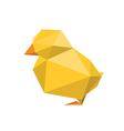 origami chicken vector image vector image