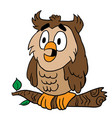 owl 1 vector image