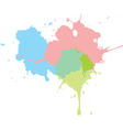 paint splats background vector image