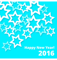 Paper Stars NewYear vector image vector image