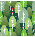 pattern of the summer forest vector image