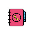 phone book flat icon sign symbol vector image