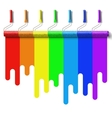 rainbow paint roller brush vector image vector image