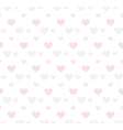Romantic pattern with hearts Background vector image vector image
