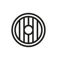 round wooden shield icon on white background vector image vector image