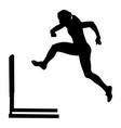 running hurdles woman runner vector image vector image