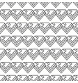 seamless black and white minimal diamonds pattern vector image