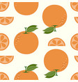 seamless orange on summer tone for background vector image