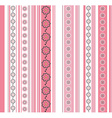 Seamless striped pattern with floral motif vector image vector image