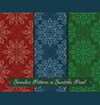 set of seamless mandala patterns vector image