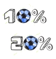 Soccer discount vector image