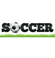 Soccer Word Art vector image vector image
