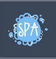 spa logo template emblem for wellness yoga vector image vector image