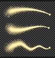 stardust trail or gold glittering star waves vector image